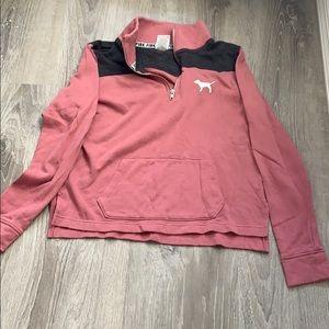 VS pink half zip